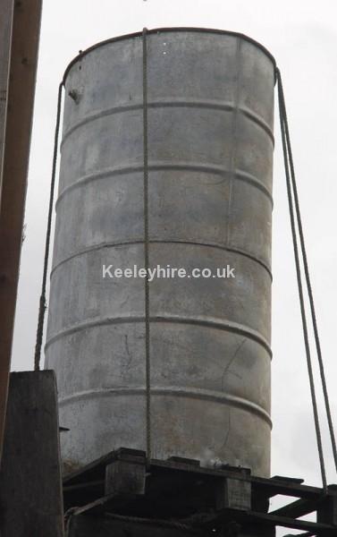 Large galvanised drum