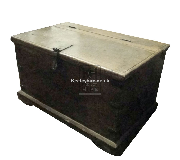 Polished wood chest