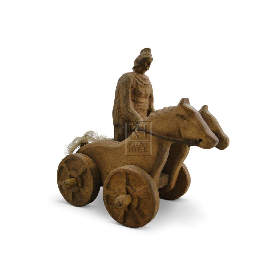 Carved Wooden Roman Toy