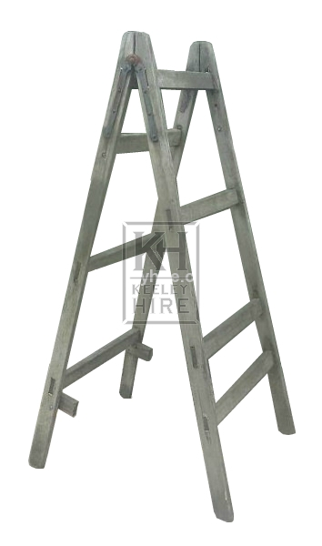 Tall wood step ladder