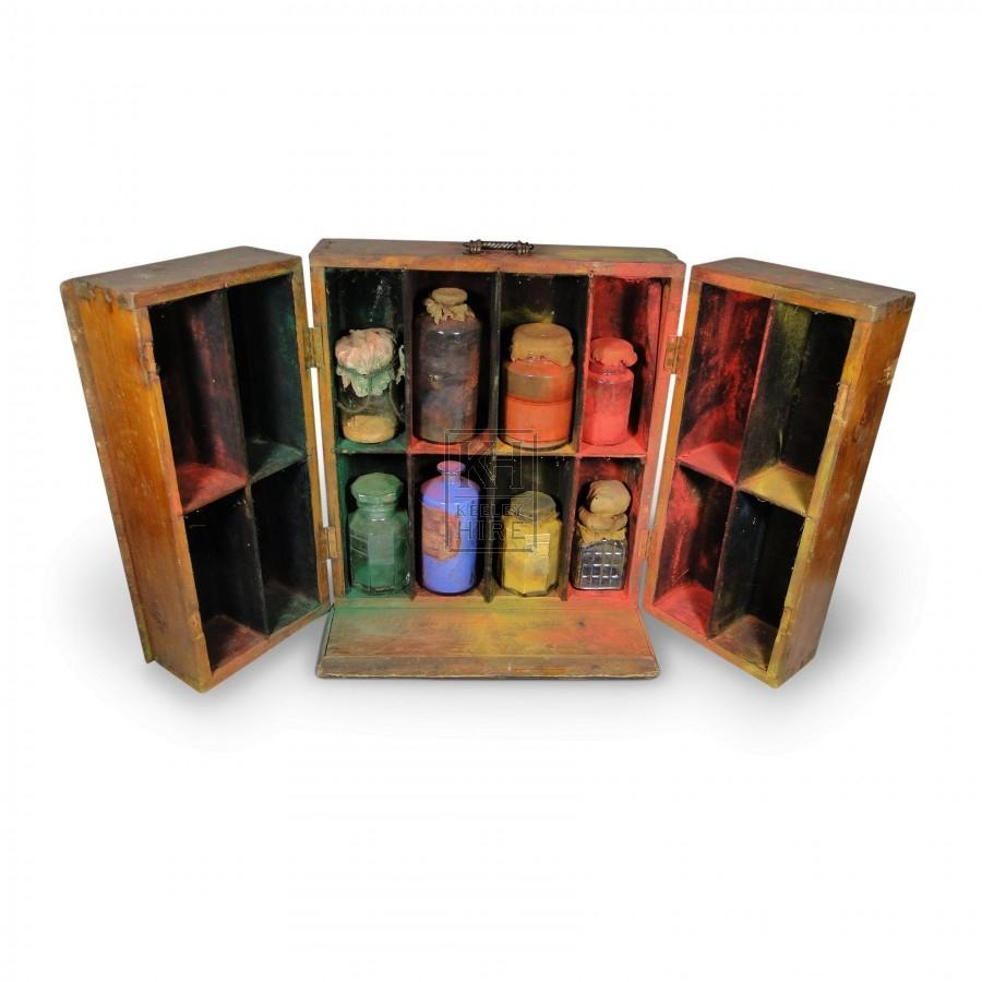 Cupboard of Paint Jars