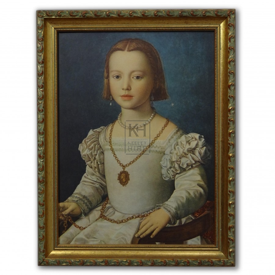Elizabethan Portrait of a Young Girl
