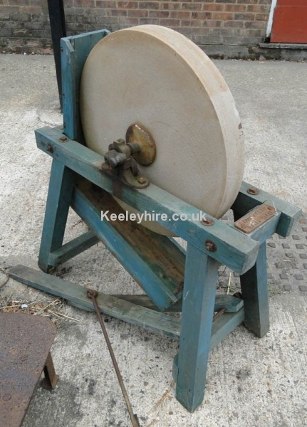 Floorstanding large real grindstone