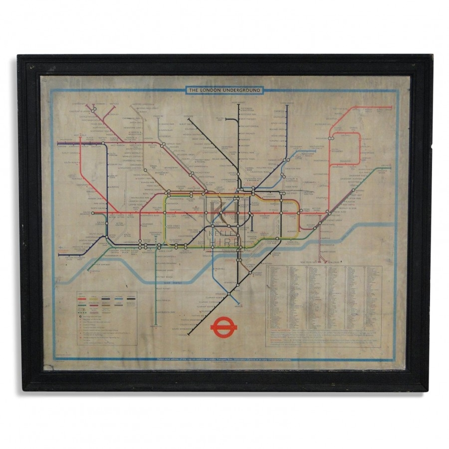 Early London Underground Tube Map