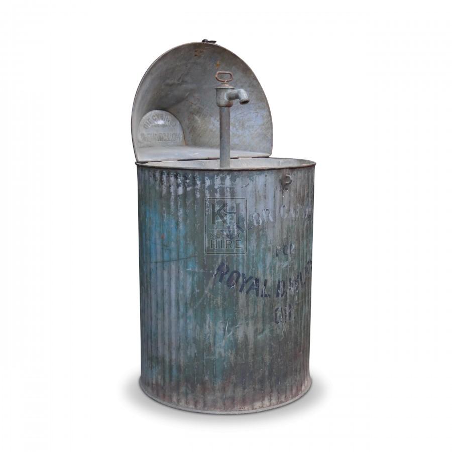 Galvanised Pump Storage Bin with Lid