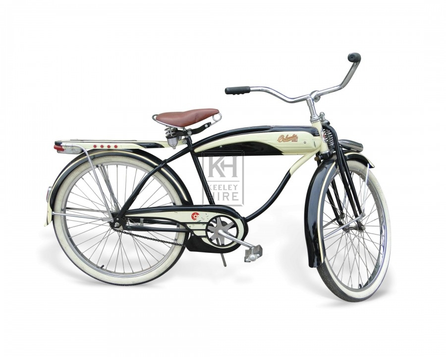 Black and Cream 1930s American bicycle