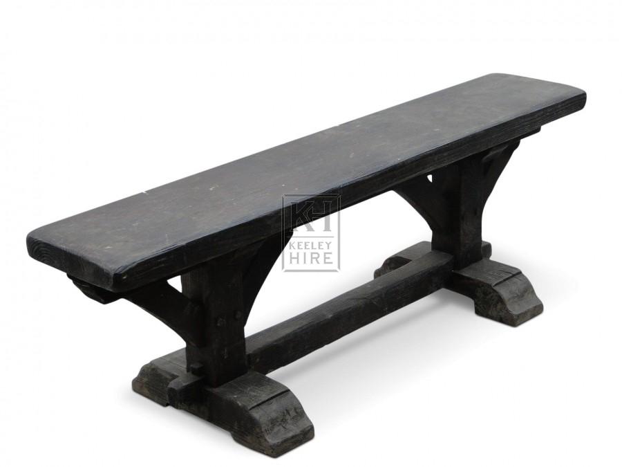 4ft Dark wood benches