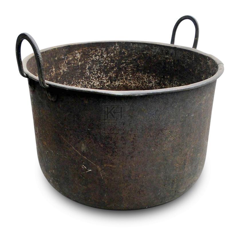 Deep Iron Cooking Pot with Handles