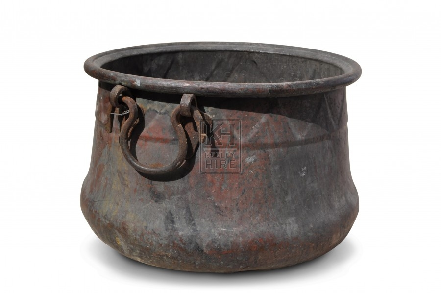 Copper Cooking Pot with Triangle pattern