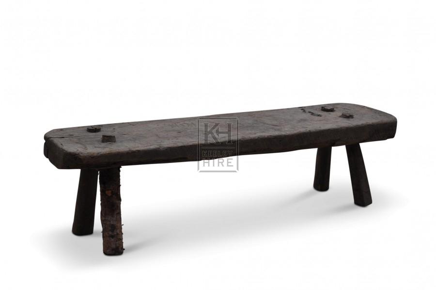 Rough Wooden Bench