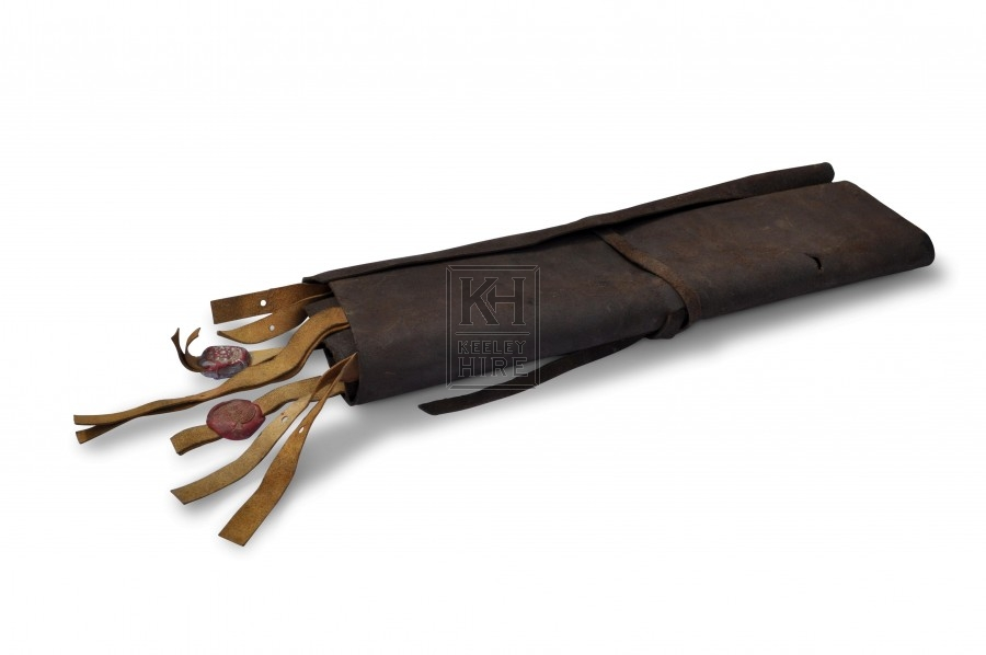 Leather Document Roll with Wax Seals
