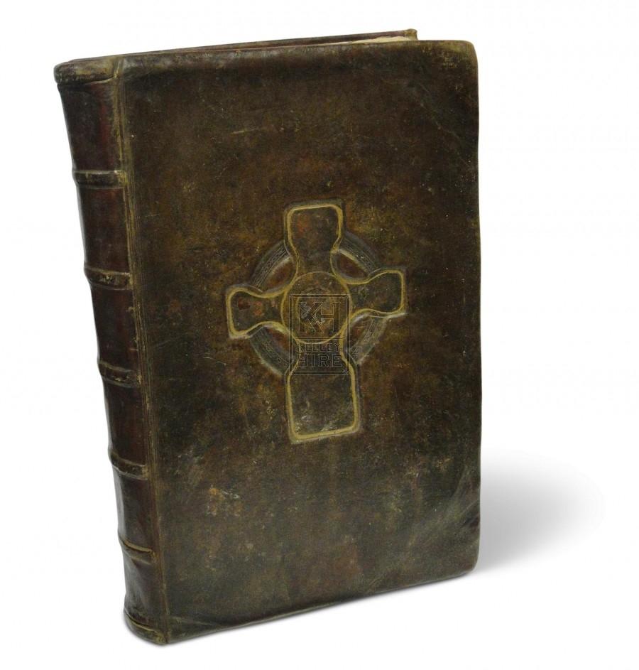 Large leather Celtic Bible