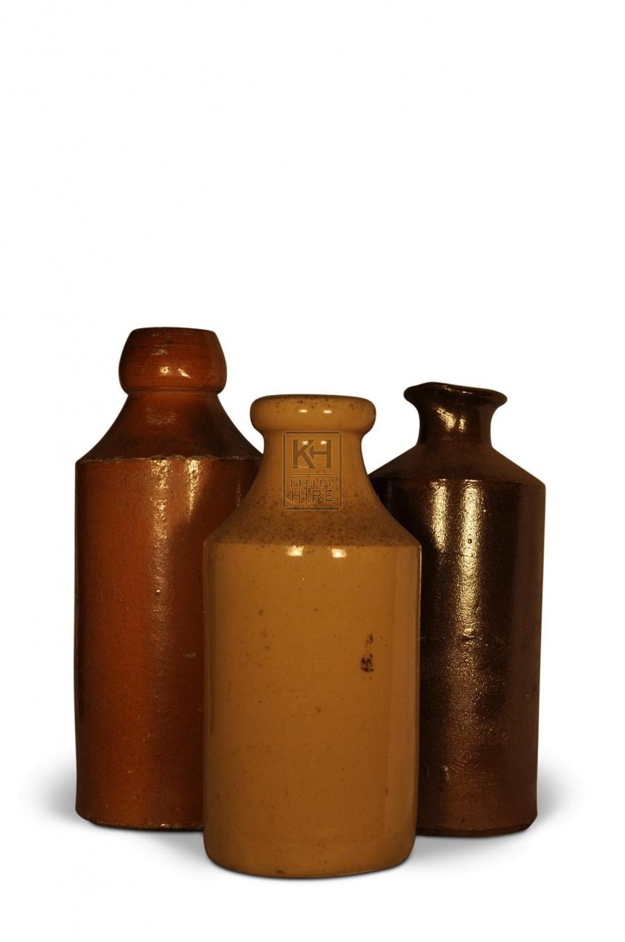 Assorted Stoneware Bottles