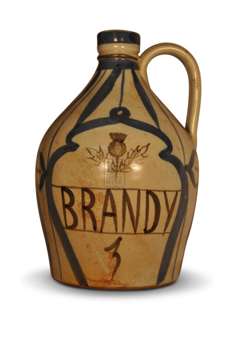 Stoneware Brandy Bottle