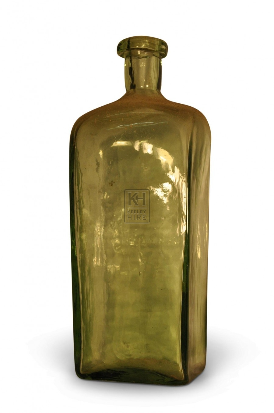 Square shaped clear Glass Bottle