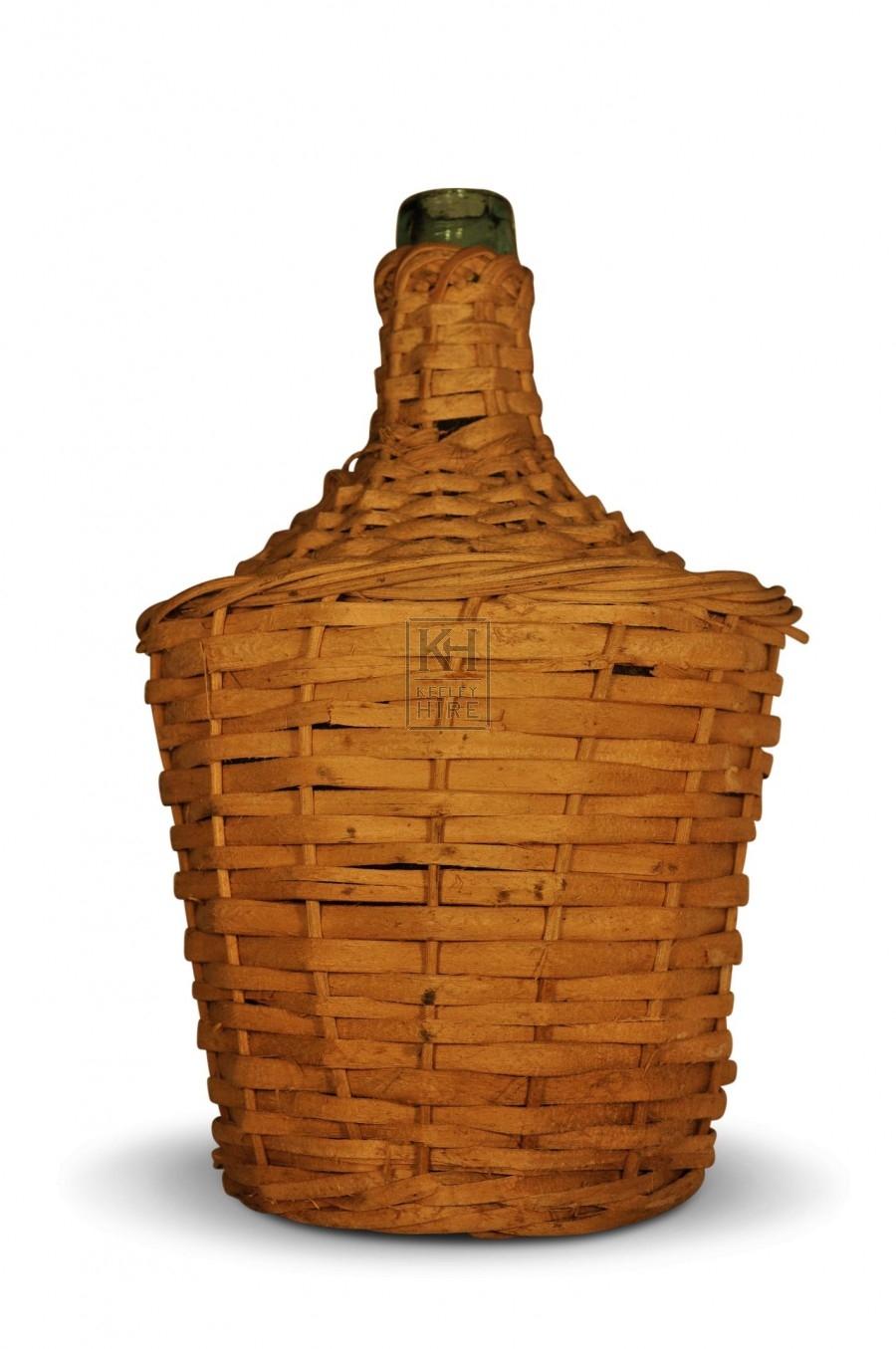 Wicker Wrapped Bottle