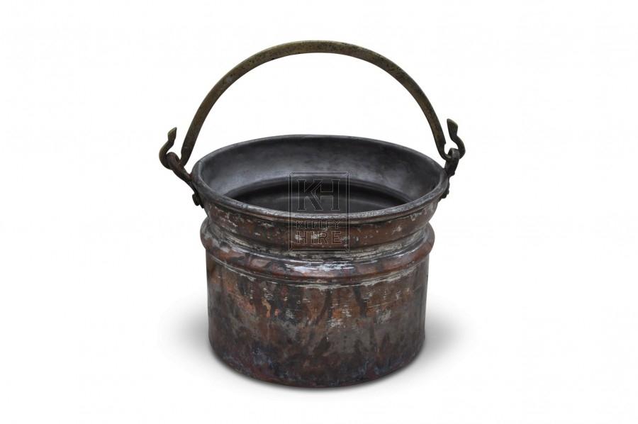 Deep copper cooking Pot