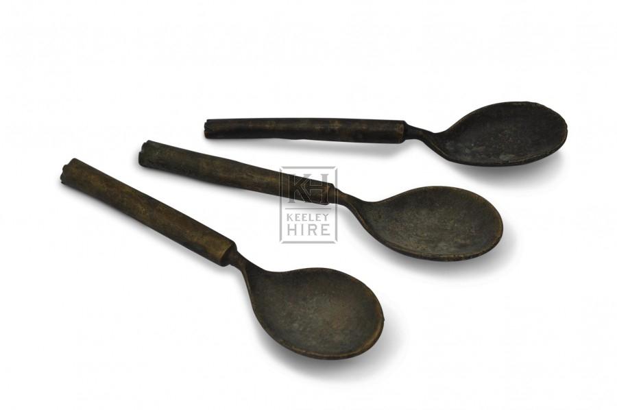 Simple brass spoon