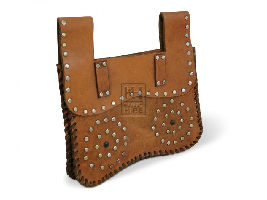 Leather Purse with metal studs