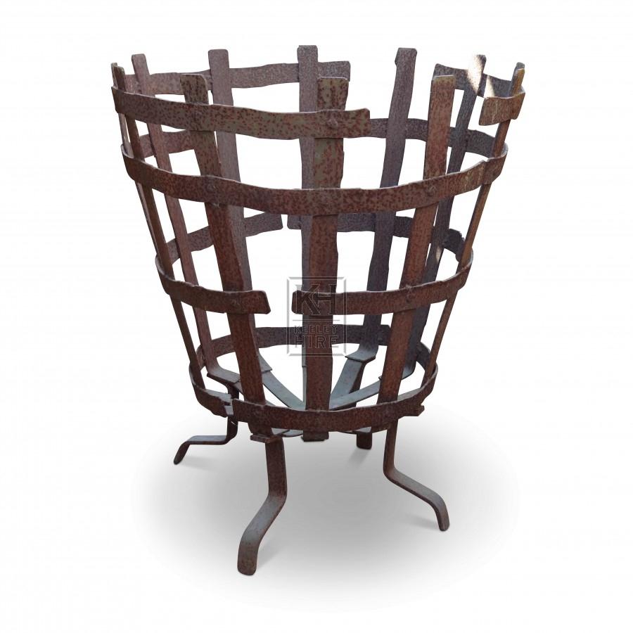 Iron Basket Brazier