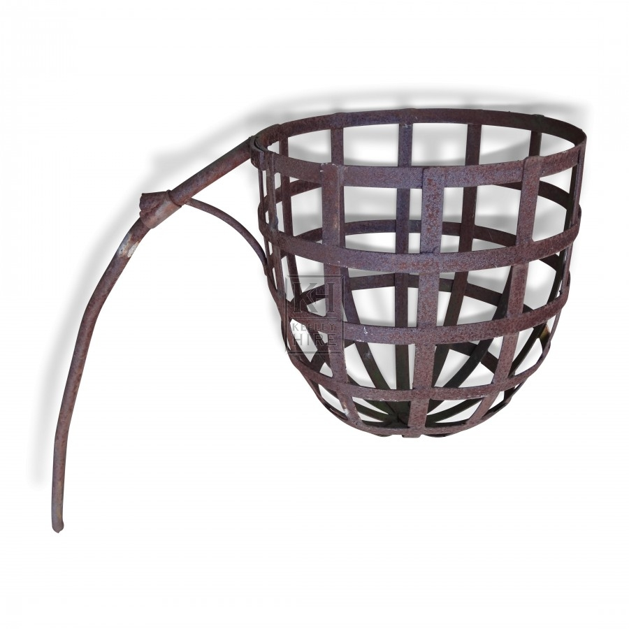 Basket Brazier with Mounting Pole