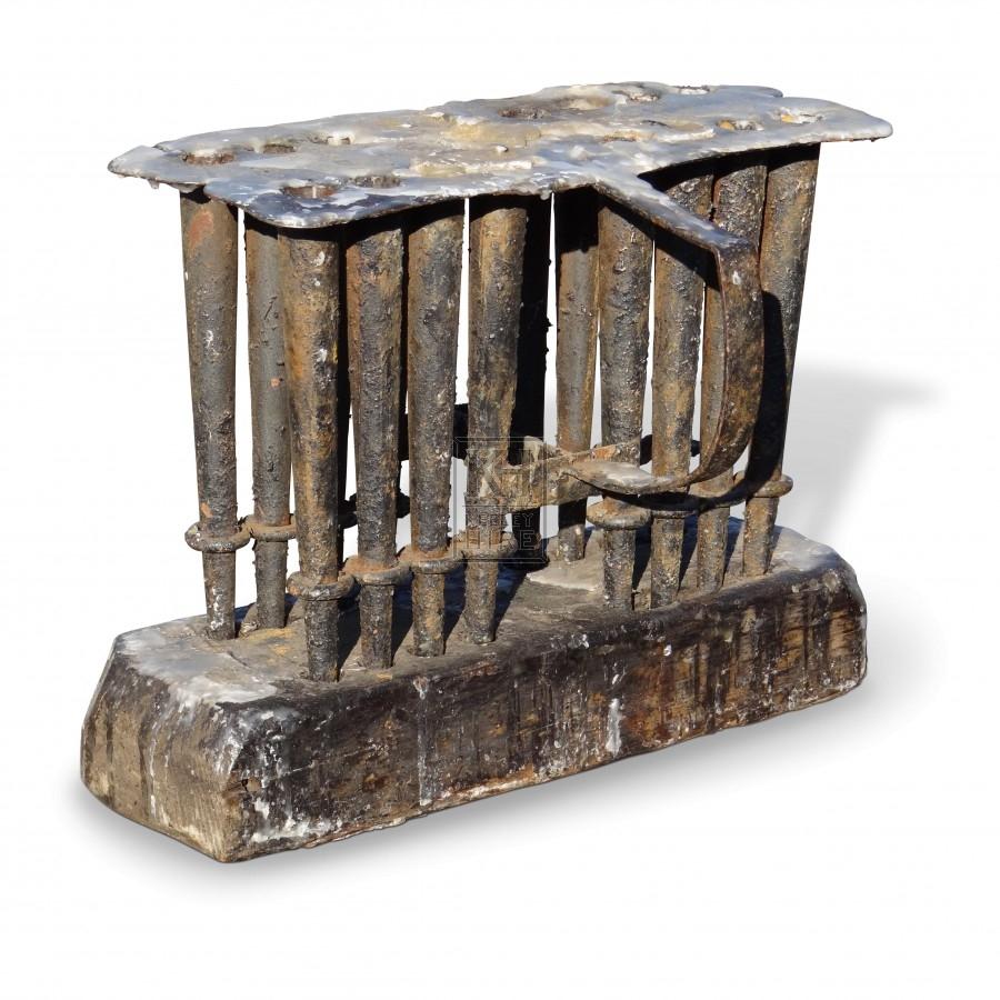 Wood & Iron Candle Mould