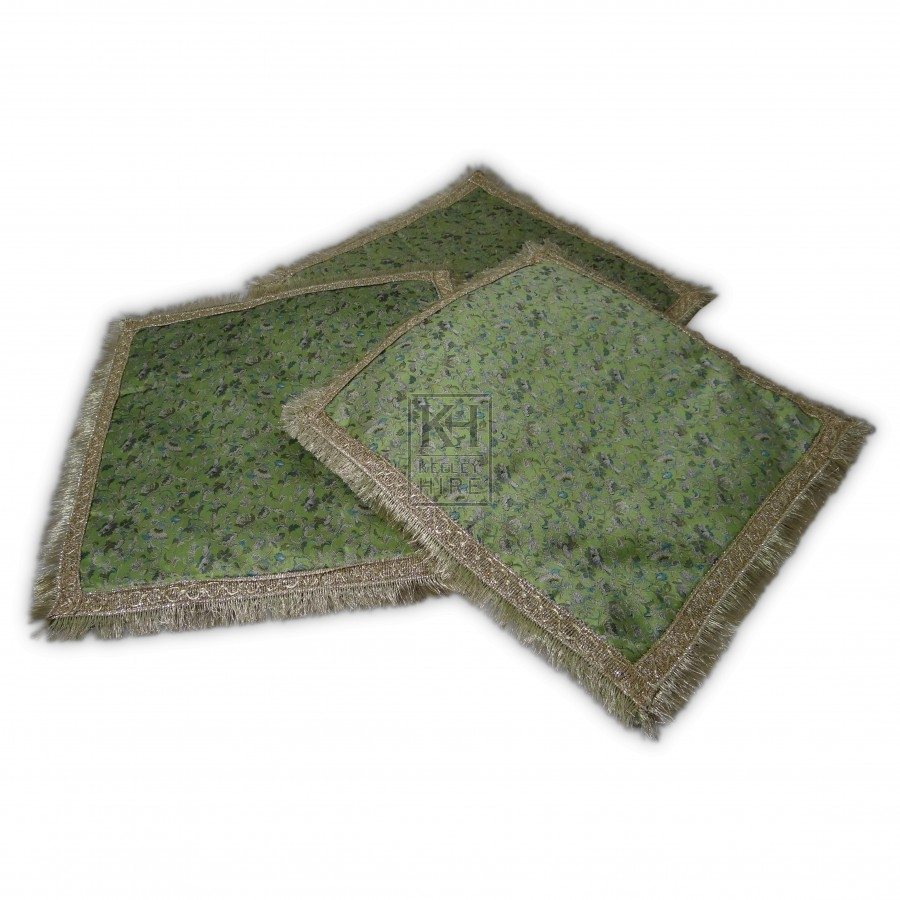 Green Cushion with Trim