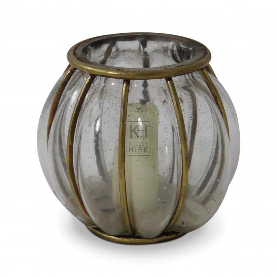 Glass Globe Candle Lantern