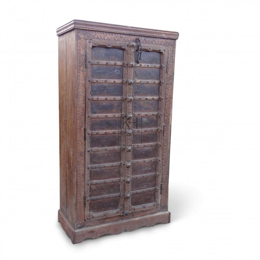 Large Studded Wooden Wardrobe