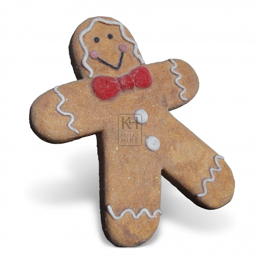 themes prop hire christmas gingerbread man decoration