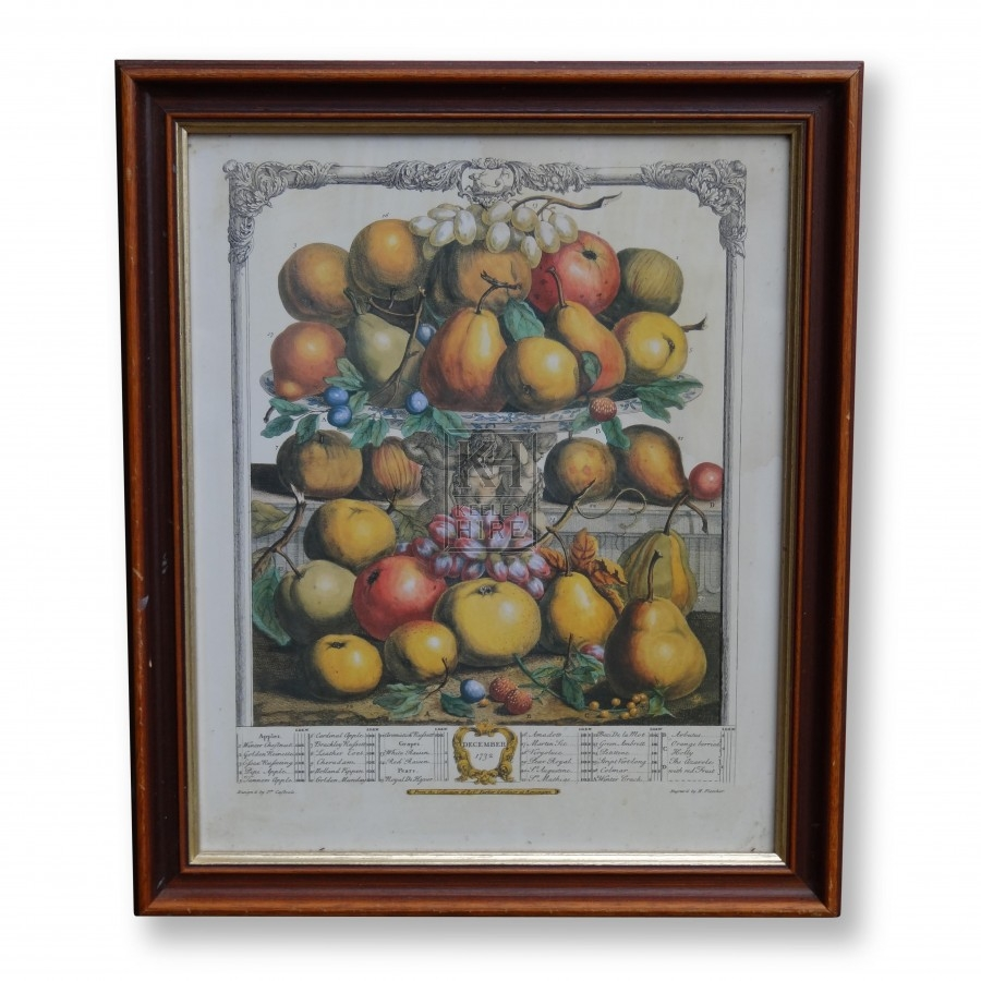 Fruit Print - December