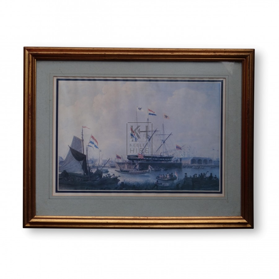 Painting of Ship Launch