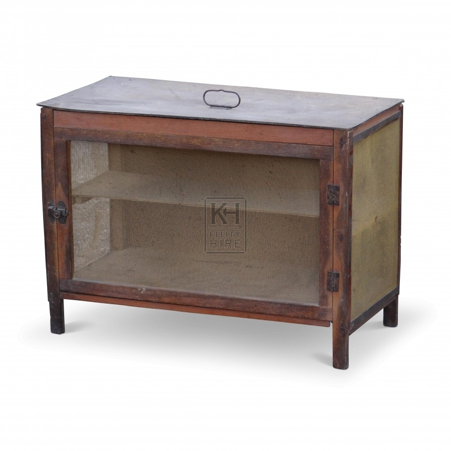 Wide Wooden Meat Safe on Legs