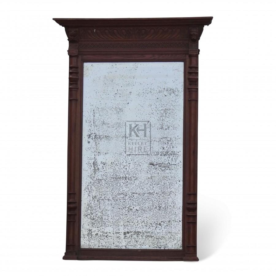 Large Carved Wooden Framed Mirror