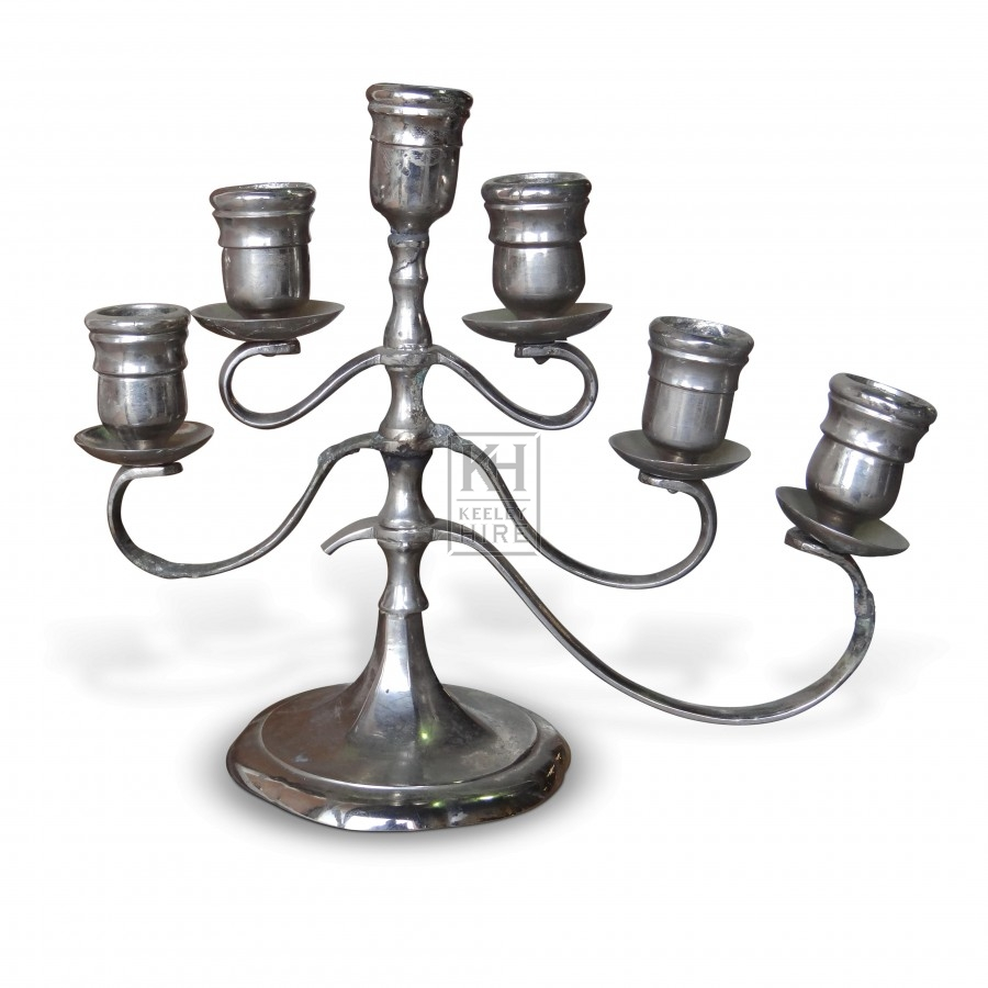 Silver Table Candelabra 6 Point