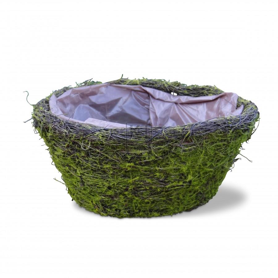 Moss Effect Bird Nest Basket