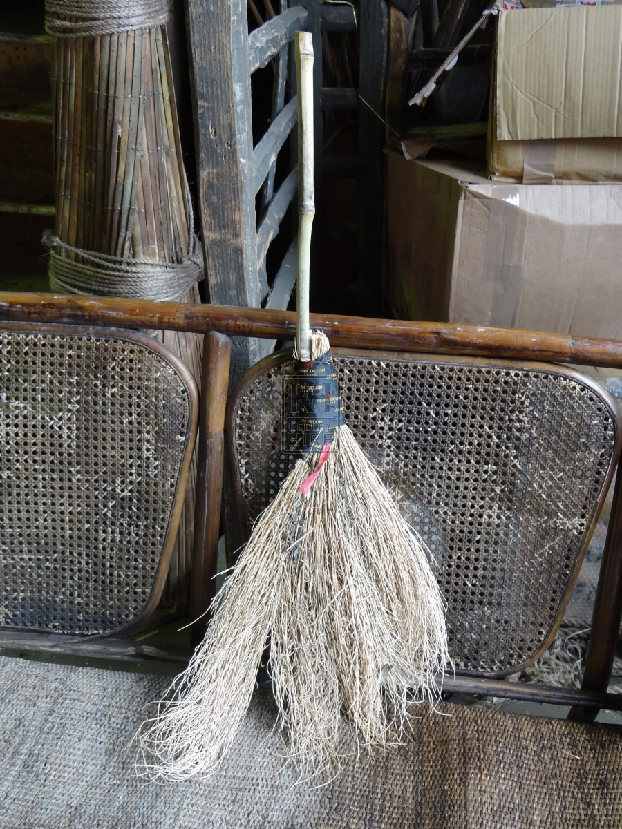 Ribbon Wrapped Broom
