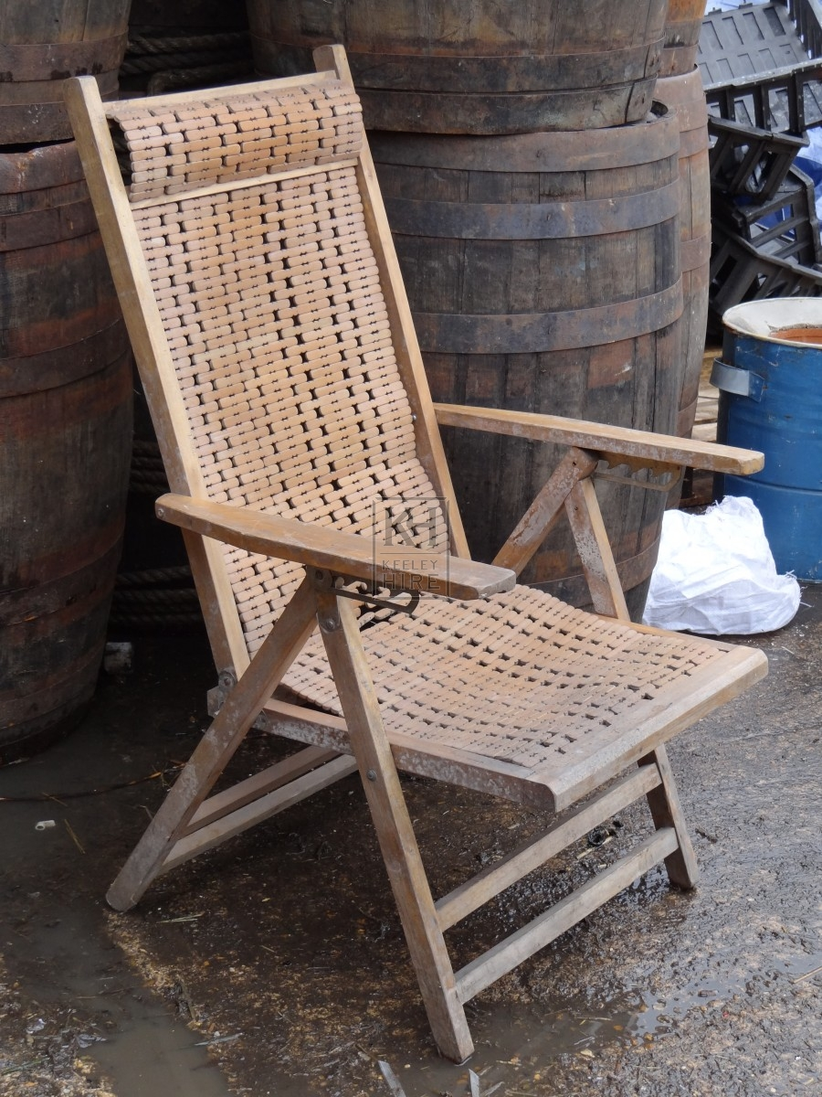 Wooden Folding Beaded Chair