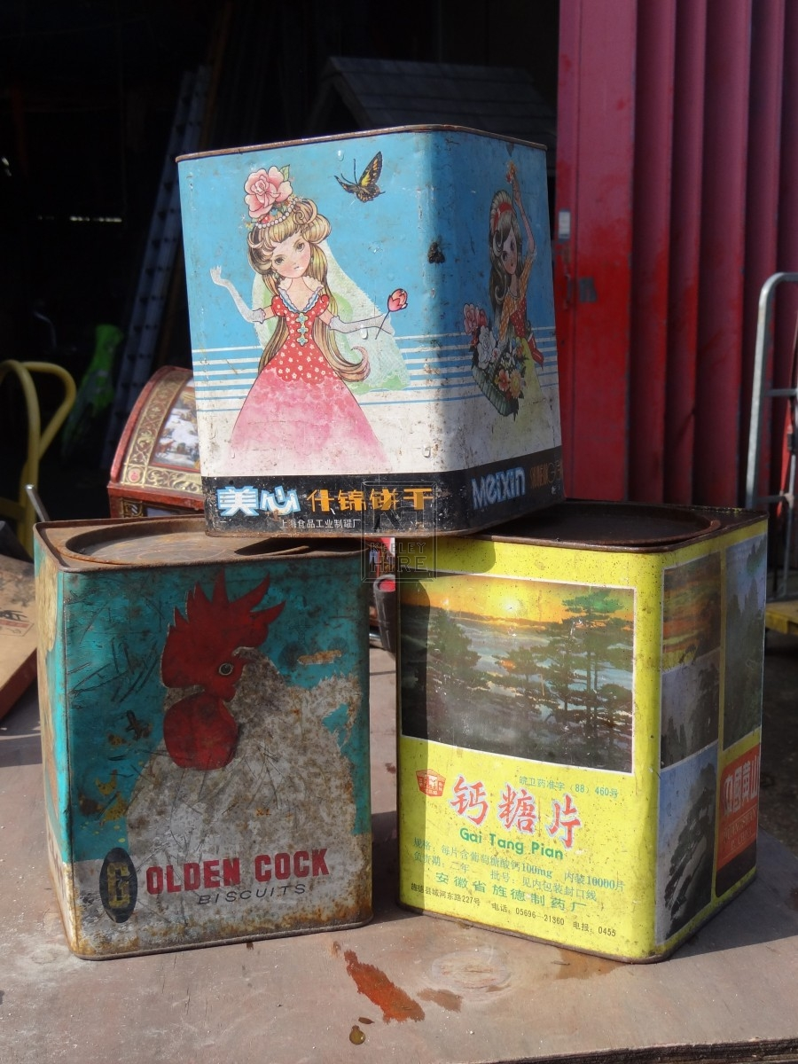 Assorted Chinese Storage Tins