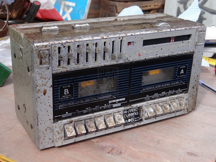 Double Cassette Tape Player