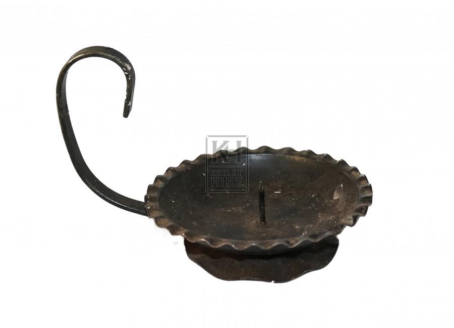 Black Iron Candleholder