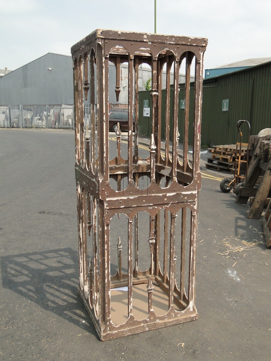 Rough Painted Freestanding Cage