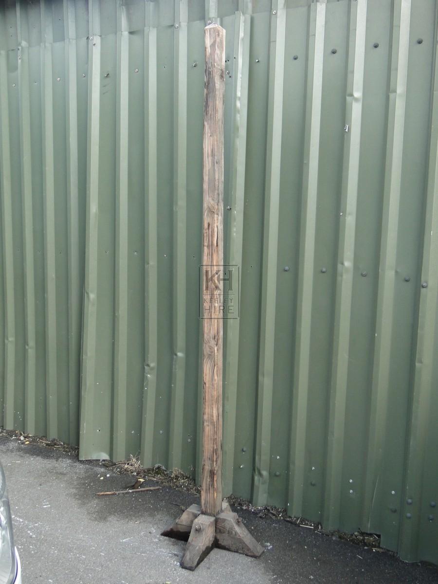 Freestanding Plain Tall Wooden Post