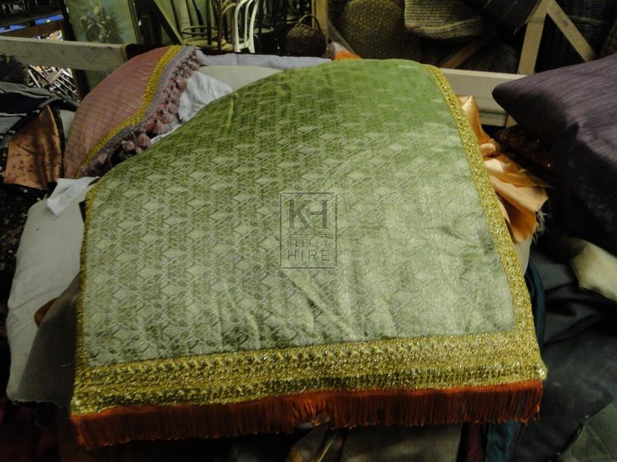 Green Rectangle Cushion