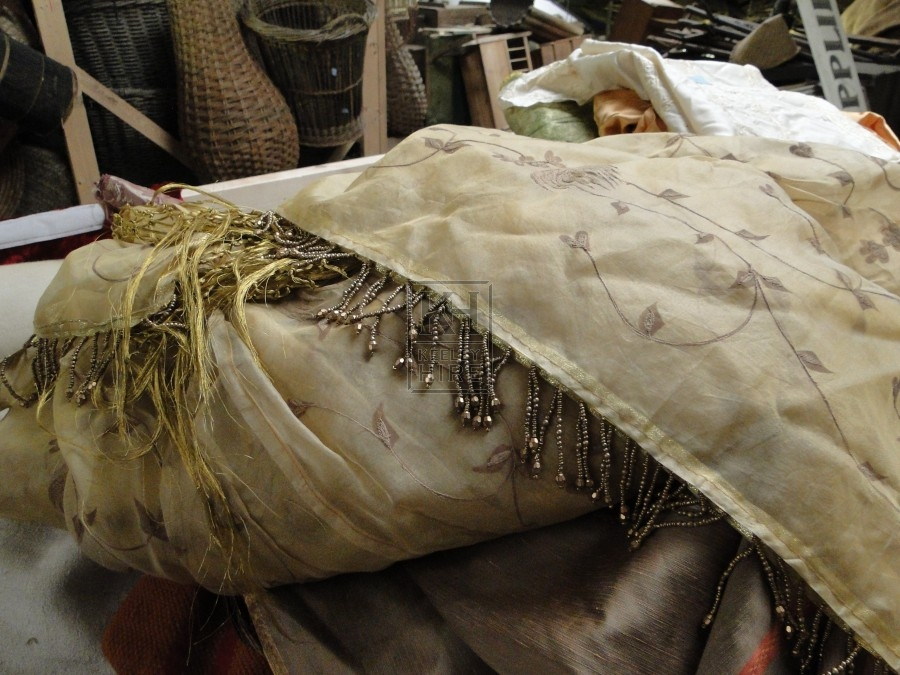 Gold Ornately Decorated Fabric