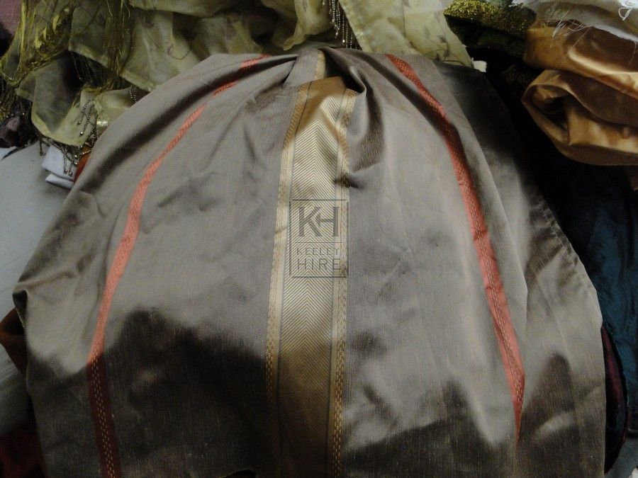 Large Grey Striped Fabric
