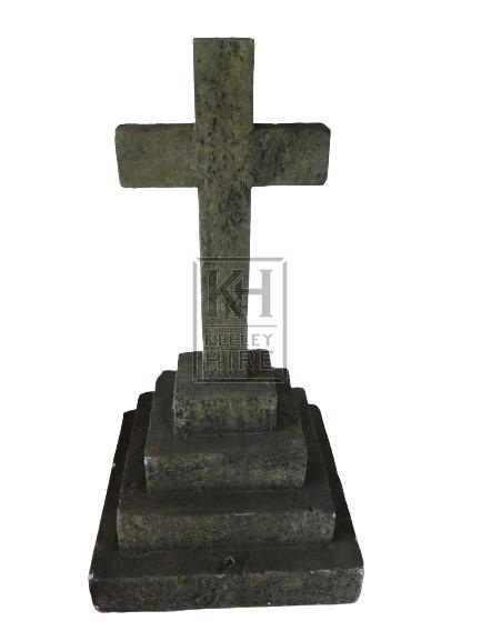 Small Cross on Plinth