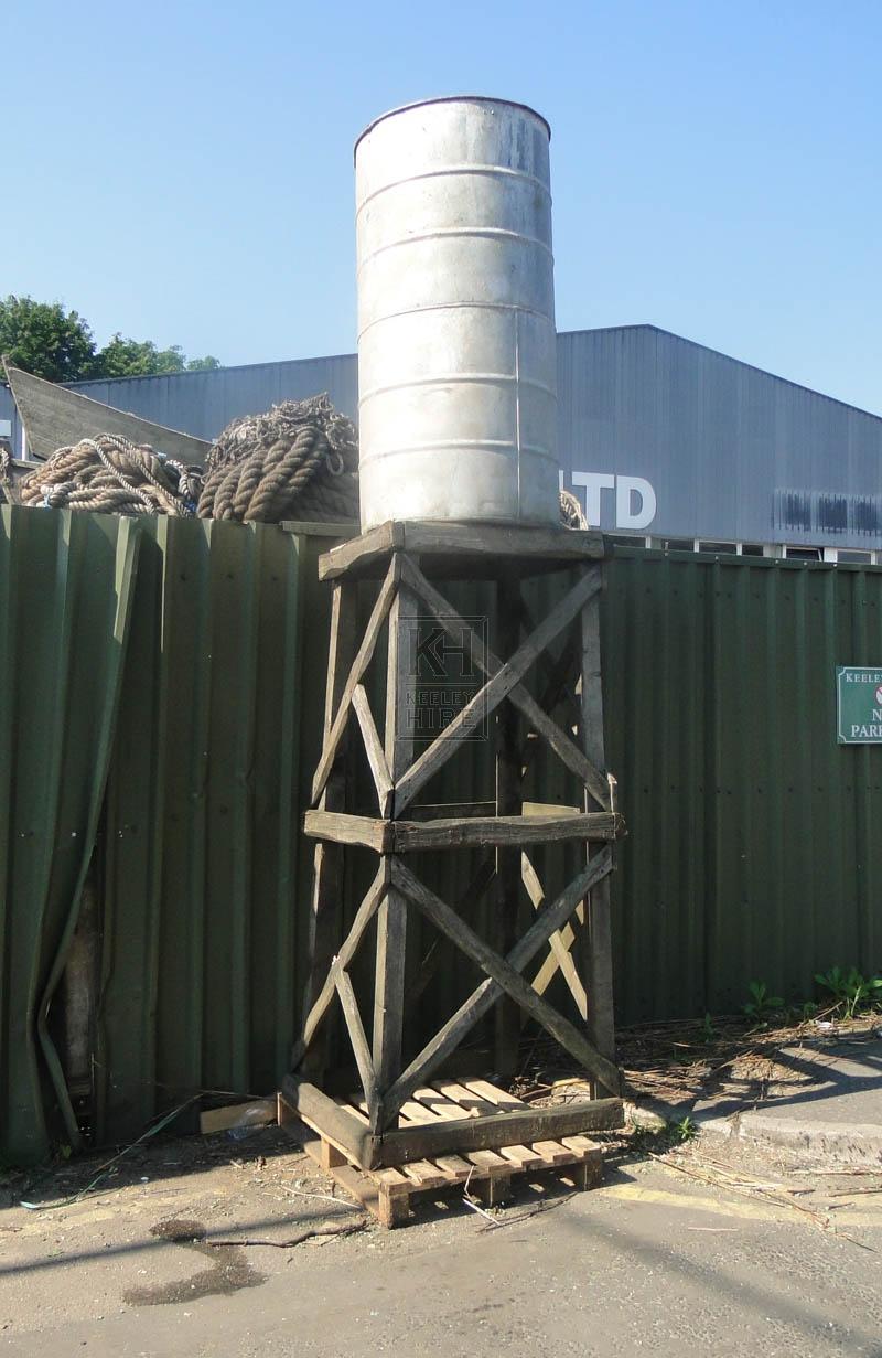 Wood tower construction & galvanised tub