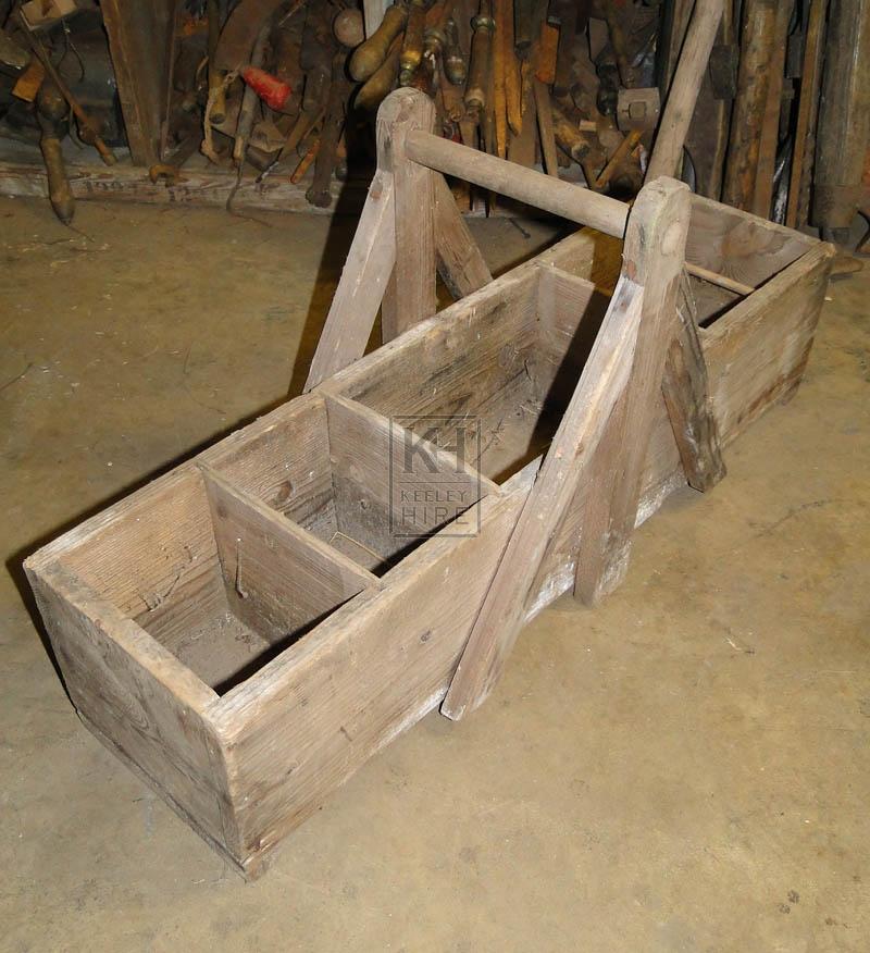Long wood tool box