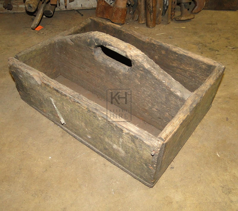 Shallow wood tool box